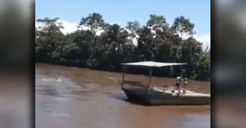 TRAGEDIA EN MOYOBAMBA: Embarcación que llevaba víveres a pobladores se hunde en el río mayo [VIDEO]