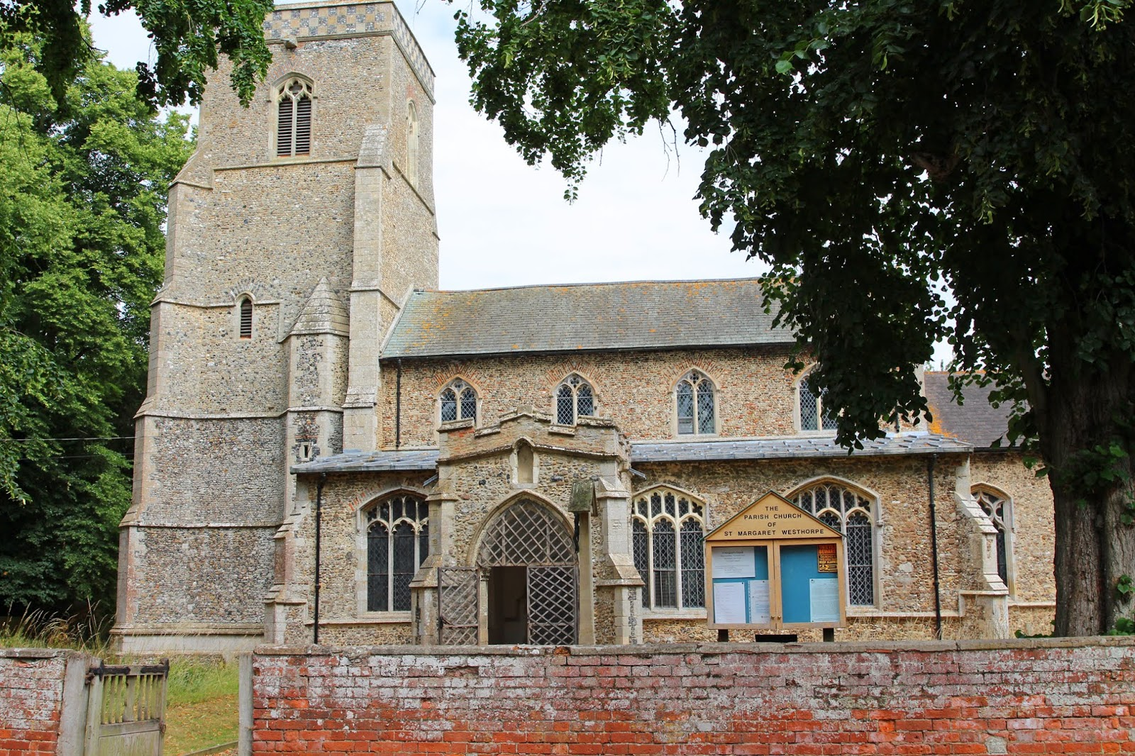 The Writing Desk: Visiting St Margaret's Westhorpe - Parish