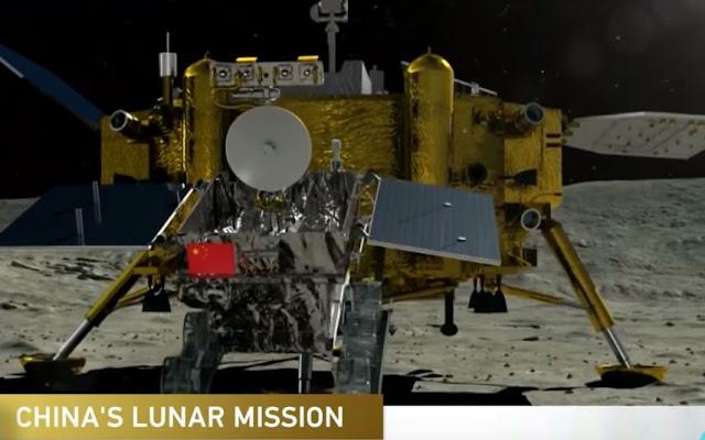 Οι πανοραμικές φωτογραφίες του κινέζικου διαστημόπλοιου Chang'e-4 από τη σκοτεινή πλευρά του φεγγαριού