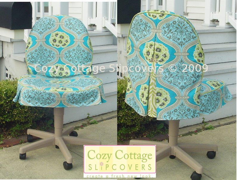 Desk Chair Cover Salt Life Beach Cozy Cottage Slipcovers Office