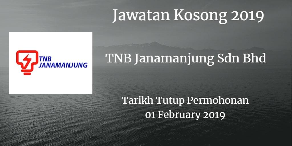 Jawatan Kosong TNB Janamanjung Sdn Bhd 01 February 2019