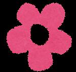小さな花のイラスト「ピンク」
