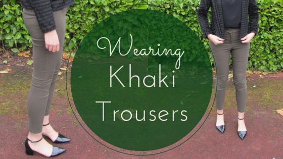 what to wear with khaki