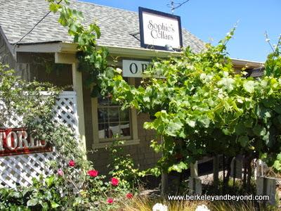 exterior of Sophie's Cellars in Duncans Mills, California