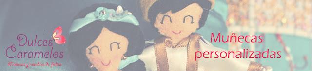Muñecas de fieltro dulces caramelos