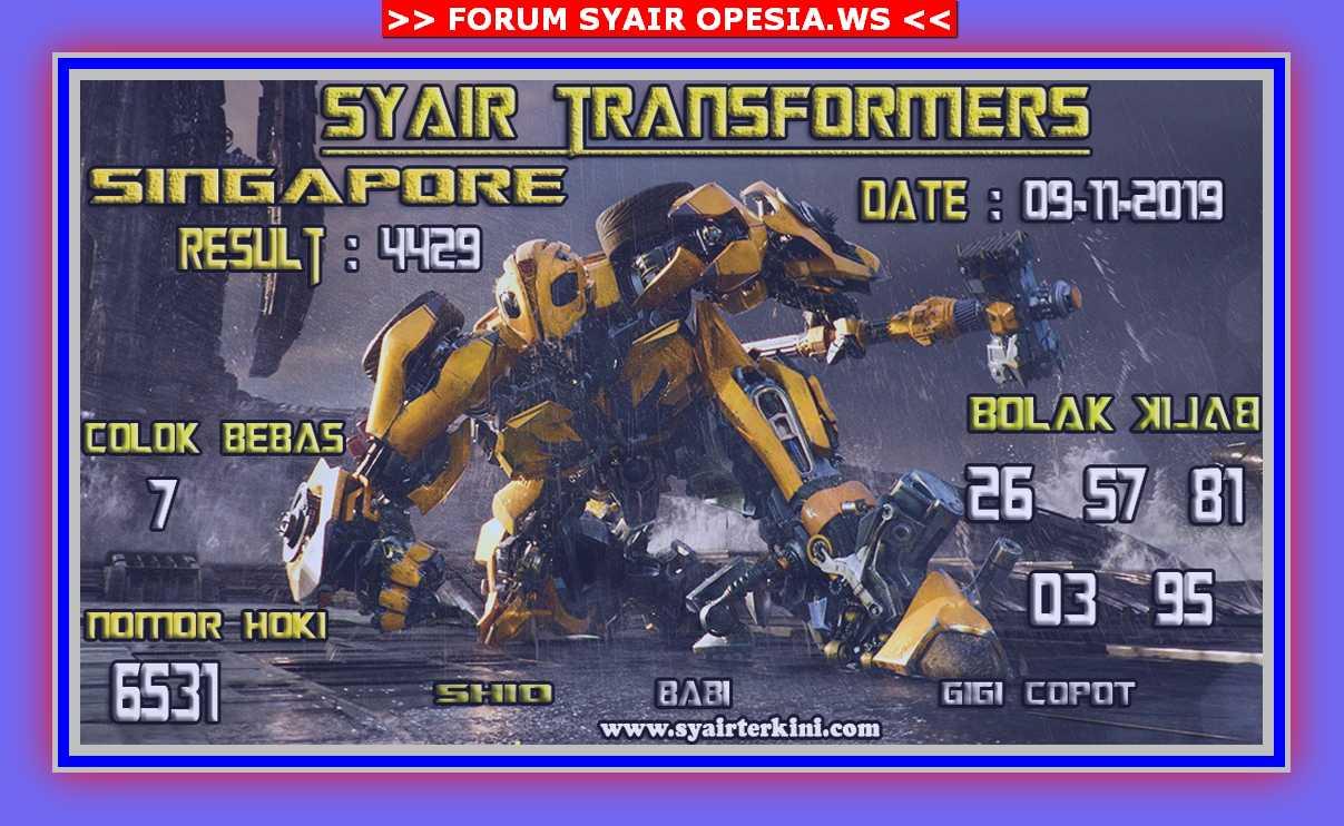 Kode syair Singapore Sabtu 9 November 2019 42