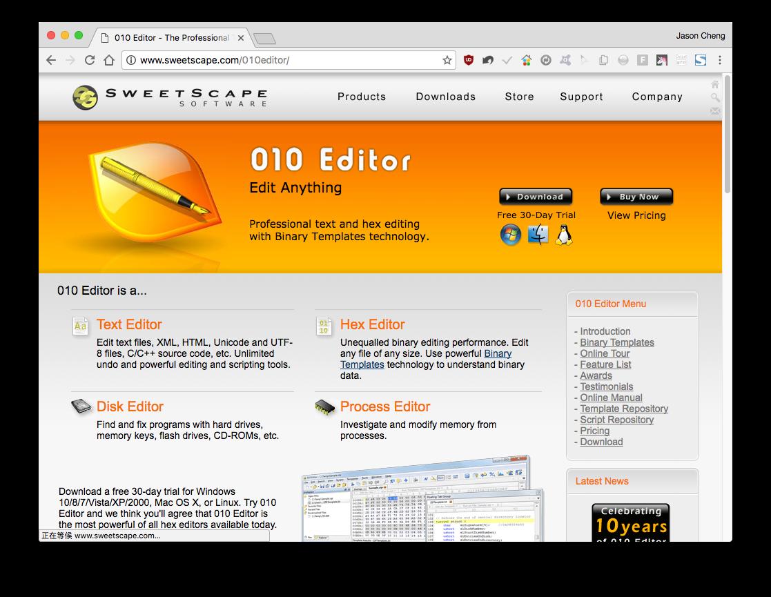 節省工具箱Jason Tools: 開啟超大檔能力編輯器,UltraEdit 外的