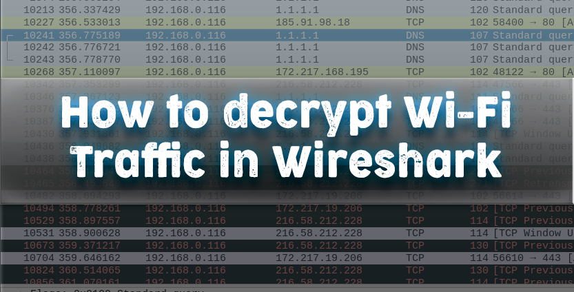 How to decrypt WiFi traffic in Wireshark - KaliTut