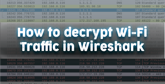 Decrypt WPA traffic in Wireshark