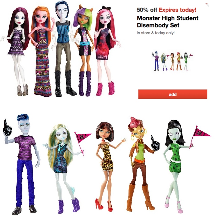 Get Up to 40% Off Monster High Items at Amazon + Free Shipping w/Prime