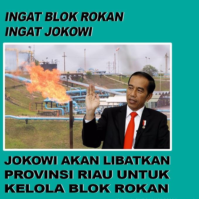Jokowi Akan Libatkan Provinsi Riau Untuk Kelola Blok Rokan