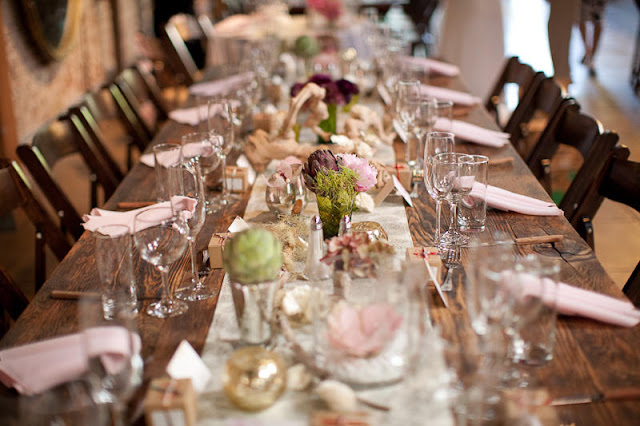 Mesas largas. Organización bodas en Cádiz