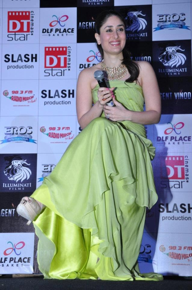 Kareena Kapoor Latest Stills In Green Dress