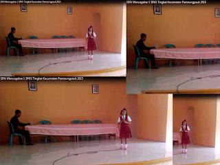 Peserta SPKS Tingkat Kecamatan Pameungpeuk Menyanyi Solo SDN Mancagahar 1