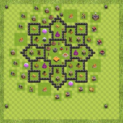 War Base Town Hall Level 8 By Tyara Tyara (cross TH 8 Layout)