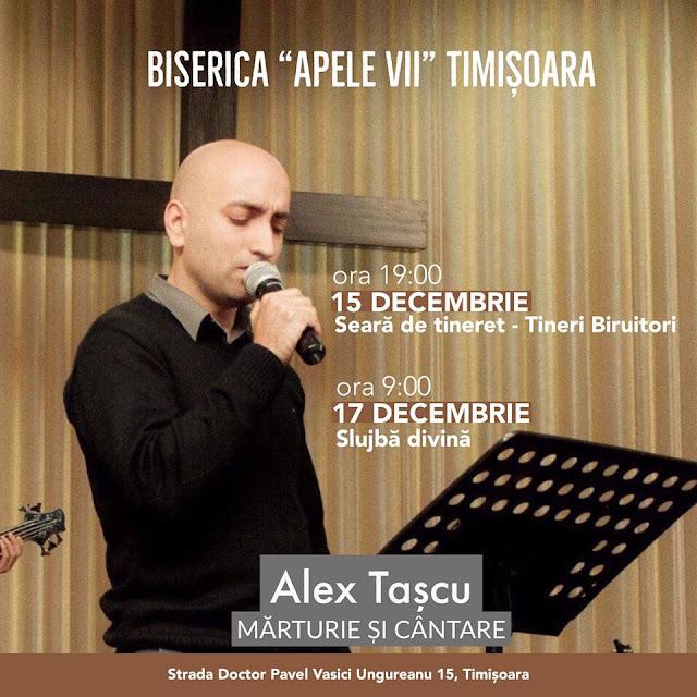 Alex Tașcu la Biserica Apele Vii Timisoara