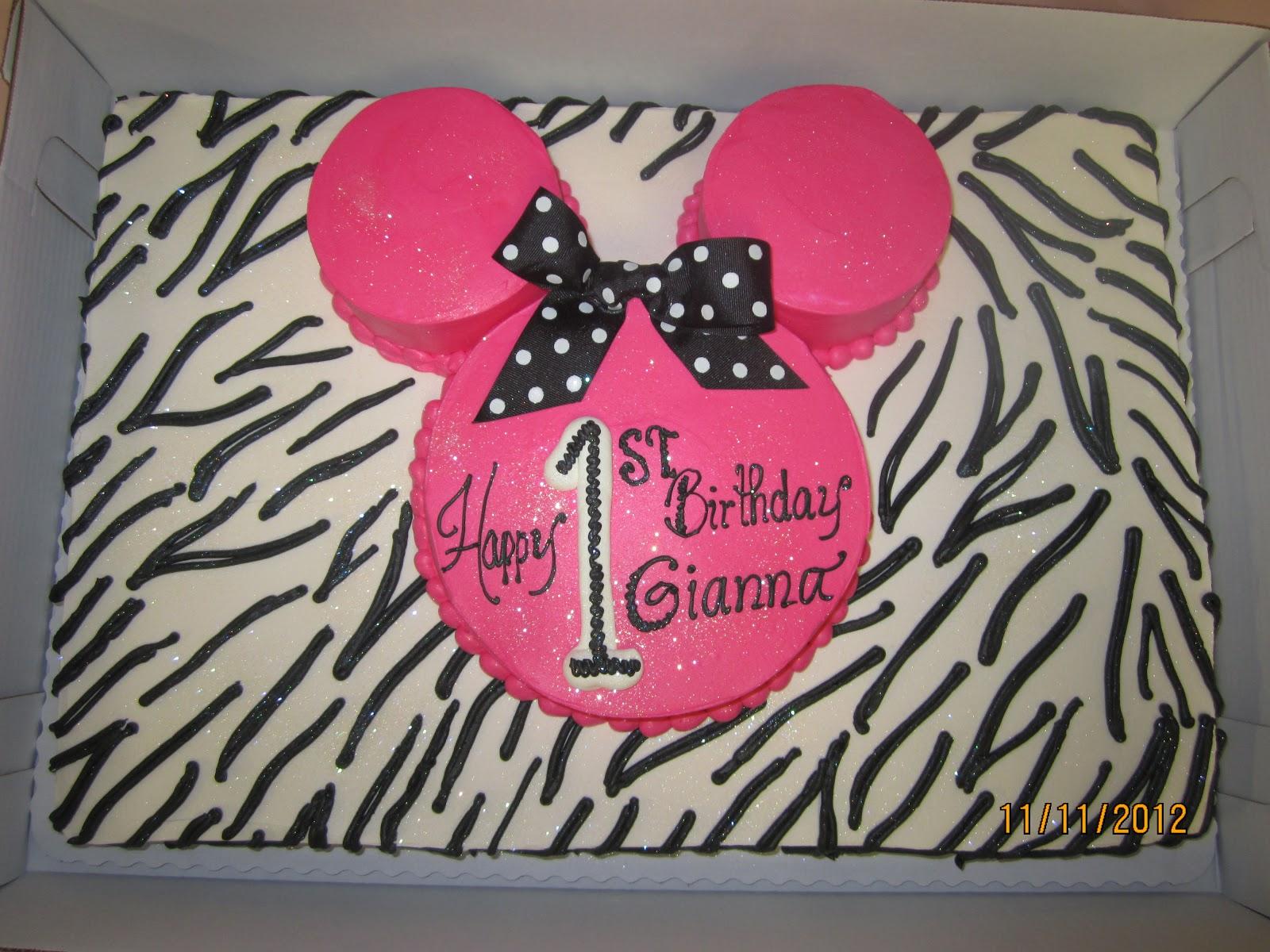 Minnie Zebra Birthday Party Image Inspiration of Cake and Birthday