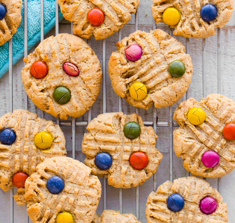 Peanut Butter Candy-Top Cookies