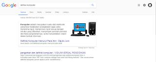 mencari definisi di google
