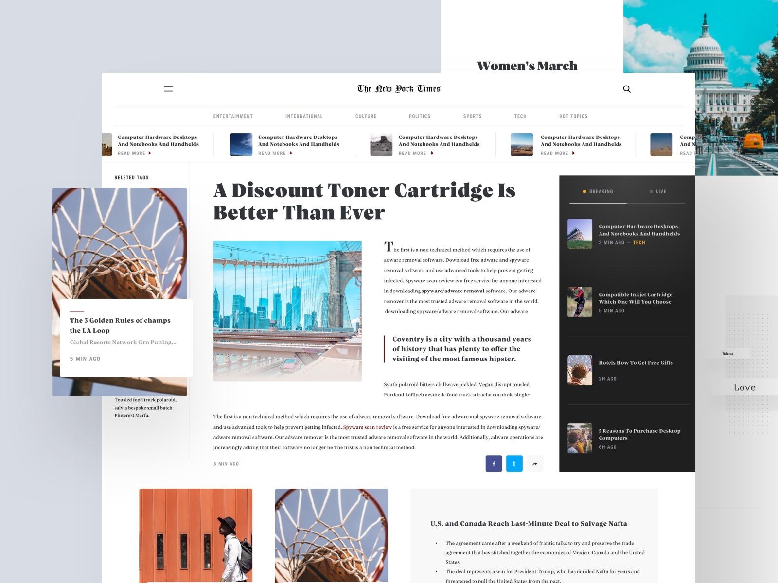 contoh desain web - New York Times