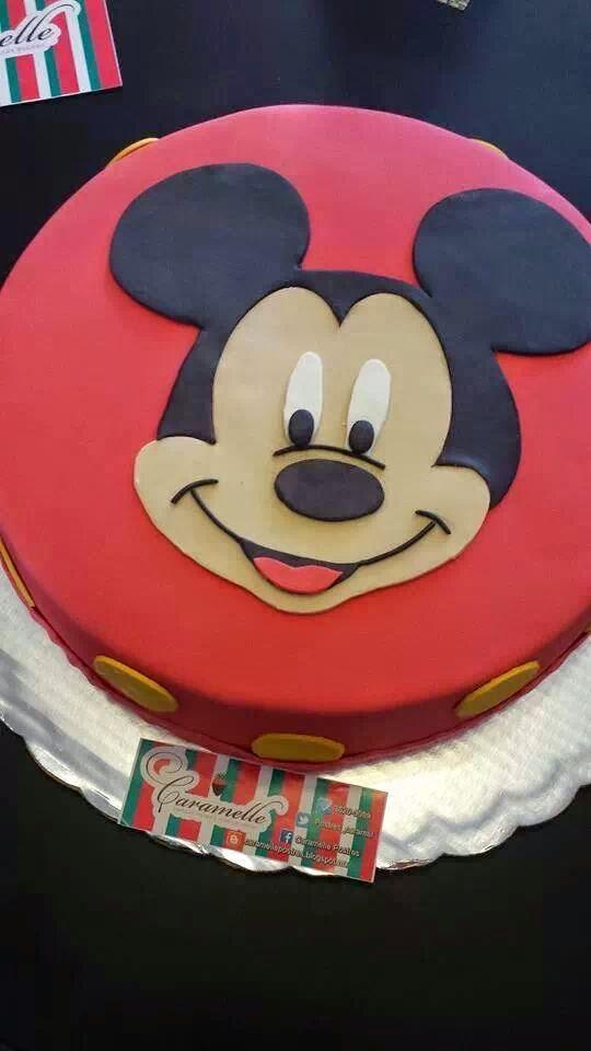 Caramelle Postres Pastel De Fondant Mickey Mouse