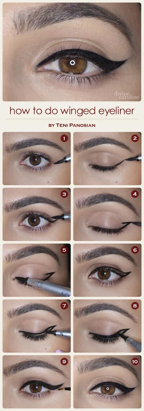 How to Do Winged Eyeliner, Winged Eyeliner
