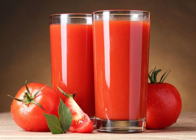 jus tomat segar untuk perawatan