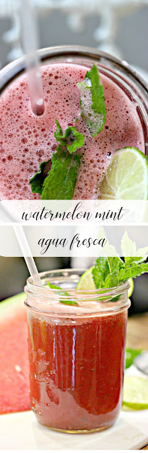 Easy Watermelon Mint Agua Fresca Recipe