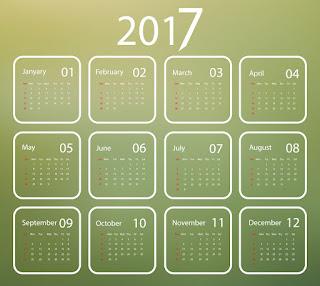 2017カレンダー無料テンプレート222