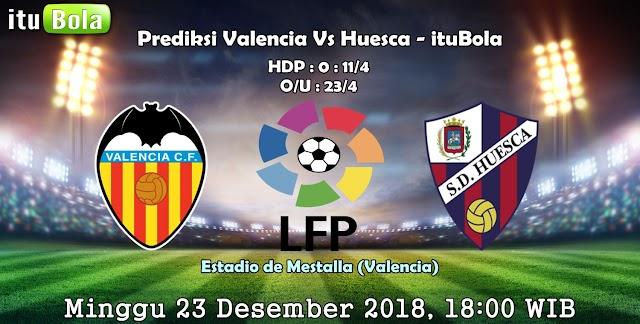 Prediksi Valencia Vs Huesca - ituBola