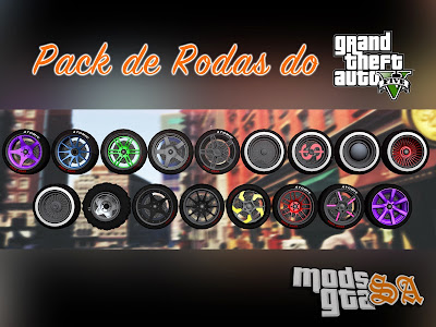 Pack de Rodas do GTA 5 v1 para GTA San Andreas