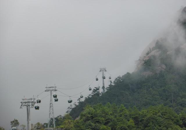 Funicular en Huangshan