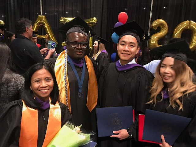 Nigerian Man Makes History In Canadian University, Graduates With 2 Degrees (See Photos)