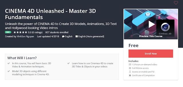 CINEMA 4D Unleashed - Master 3D Fundamentals