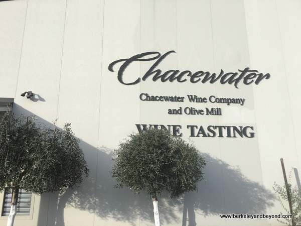 exterior of Chacewater Winery and Olive Mill in Kelseyville, California