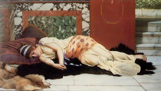 Endymion (1893). Γυναίκα που είναι ξαπλωμένη.