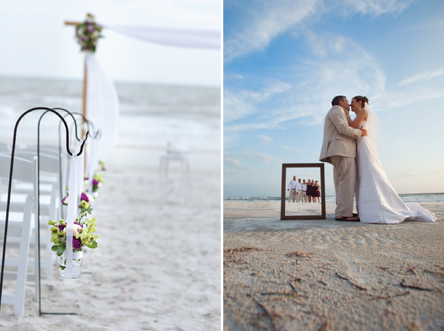 Beach Wedding Ceremony Decorations: Frames As Props Wedding Ideas