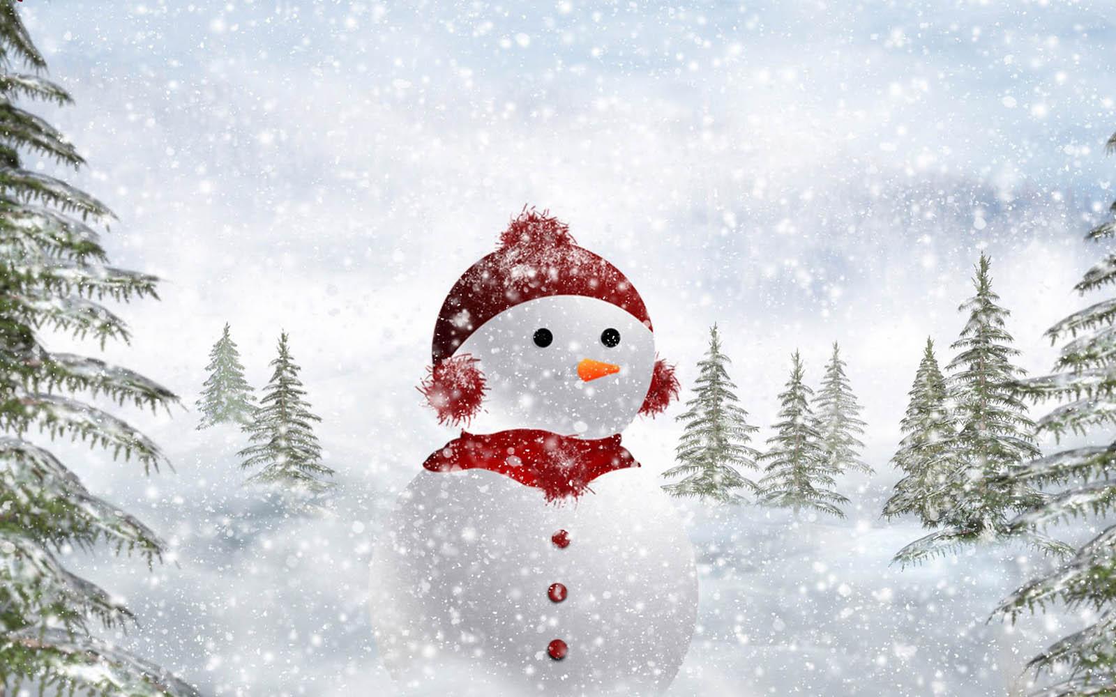 snowman desktop background - photo #2