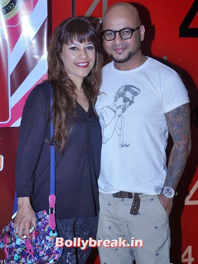 Aalim Hakim along with his wife, Mugdha Godse & Barkha Bisht at Women Decoded Comedy Show