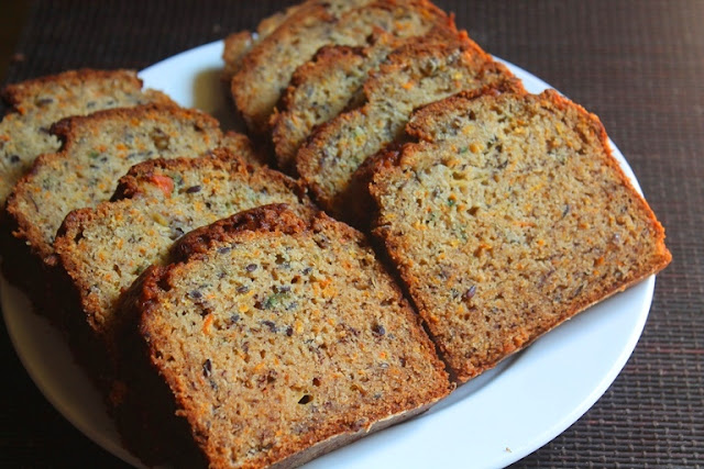 Moist Carrot Banana Bread Recipe