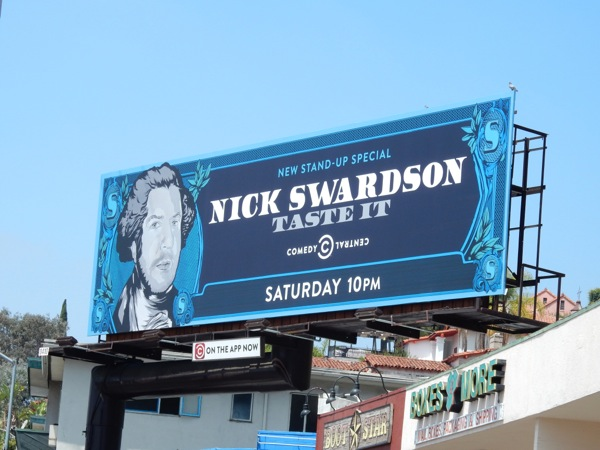 Nick Swardson Taste It comedy special billboard