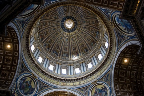 A Dome in St. Peter's Basilica in Vatican City