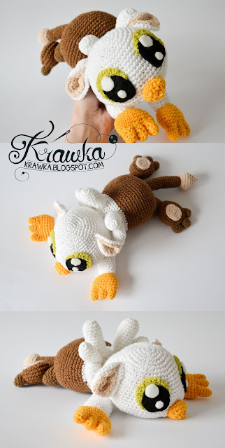 Krawka: Baby griffin gryphon crochet pattern by Krawka mythological creature