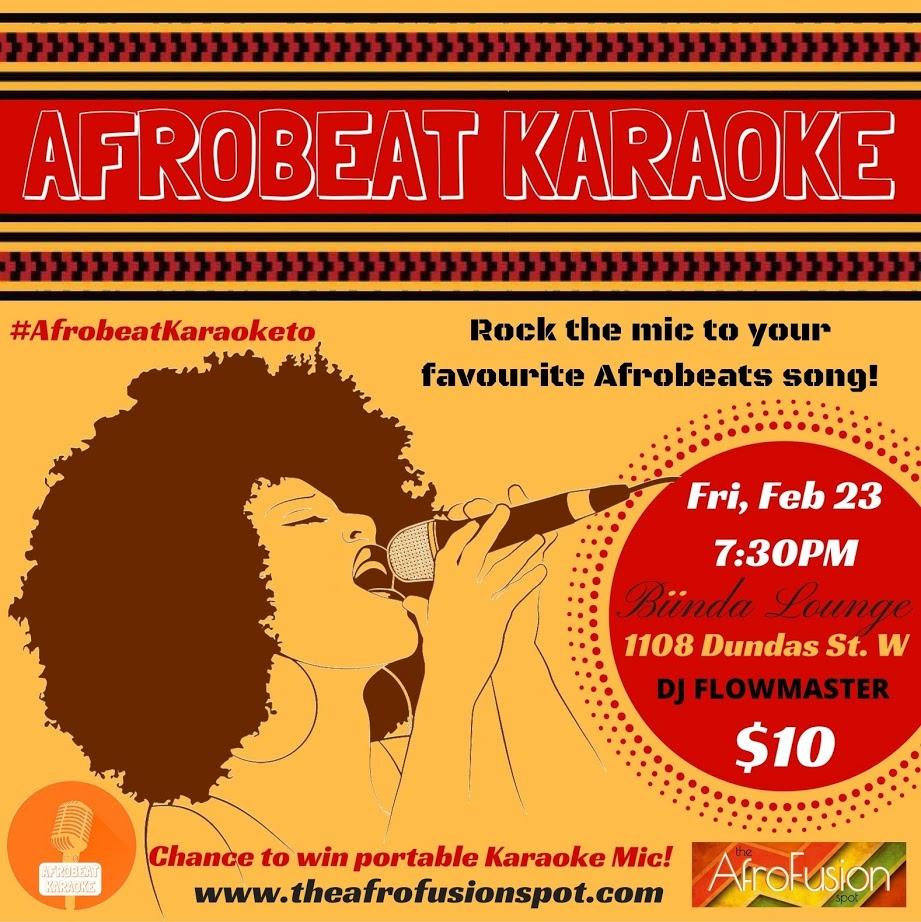 The AfroFusion Spot: Events: AFROBEAT KARAOKE Black History