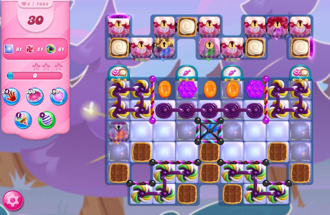 Candy Crush Saga level 7884
