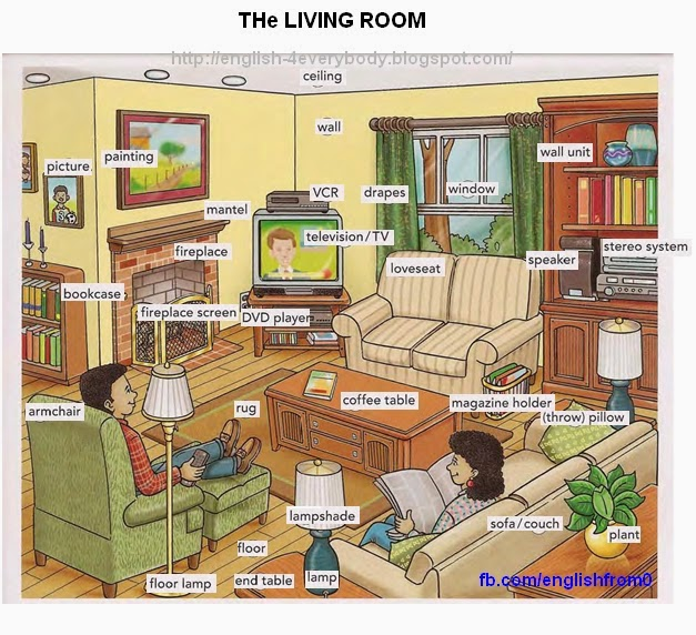 English for beginners for Living room west 6 brooklyn