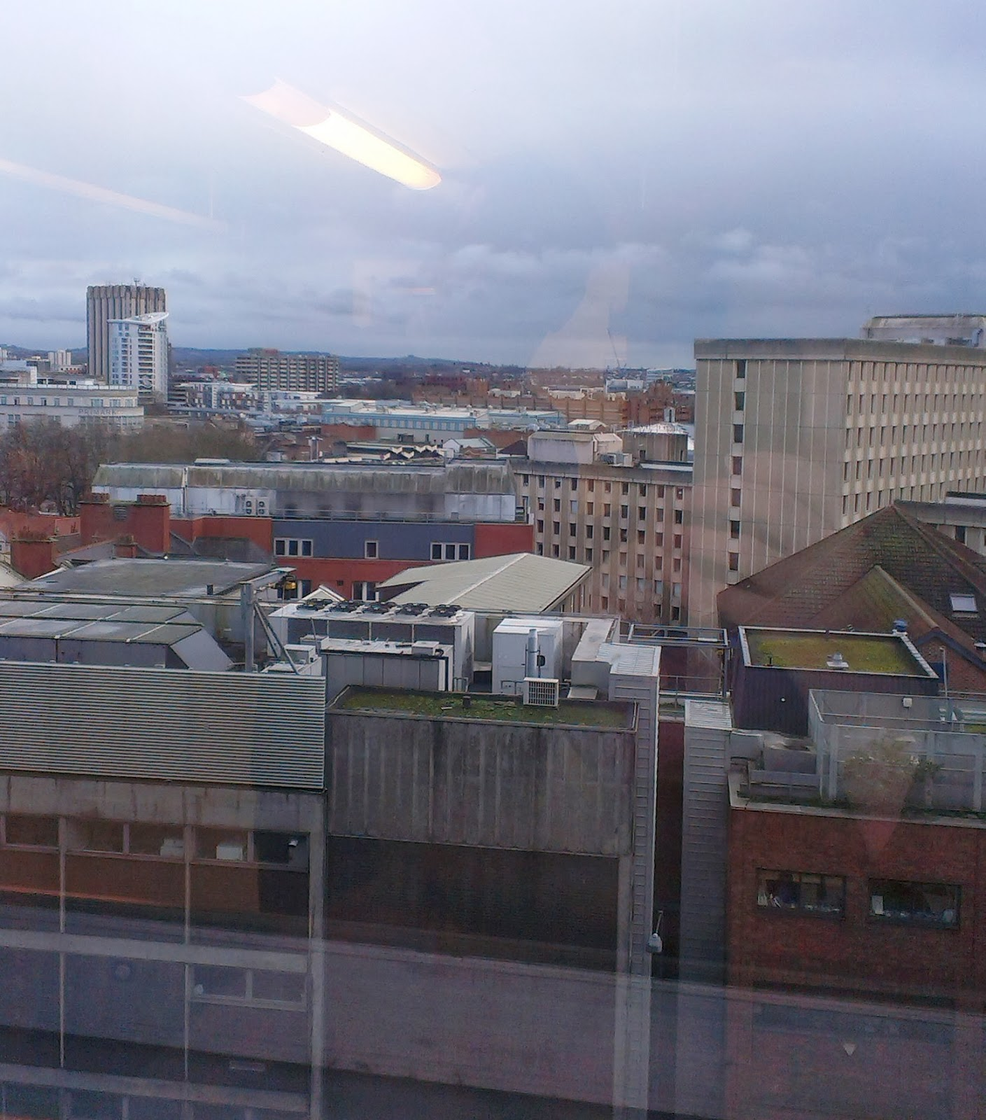View of Bristol from Level 6 of the Bristol Royal Infirmary