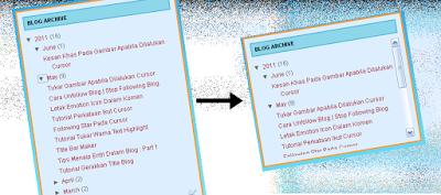 Tutorial - Cara Mudah Buat Scroll Box Untuk Blog Archive