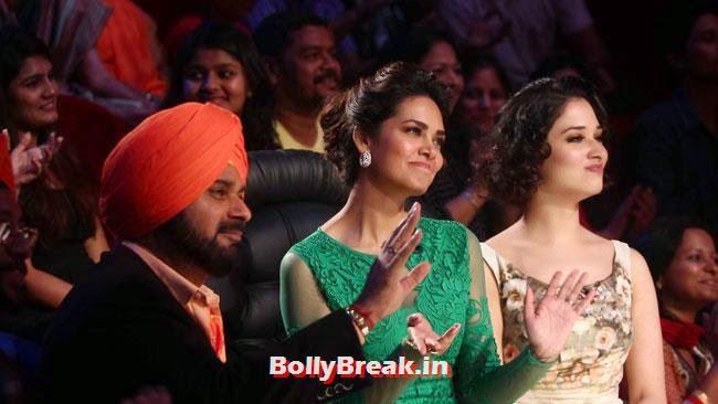 Navjot Singh Sidhu, Esha Gupta and Tammannah Bhatia, Esha Gupta, Tamanna, Humshakals Cast on CNWK