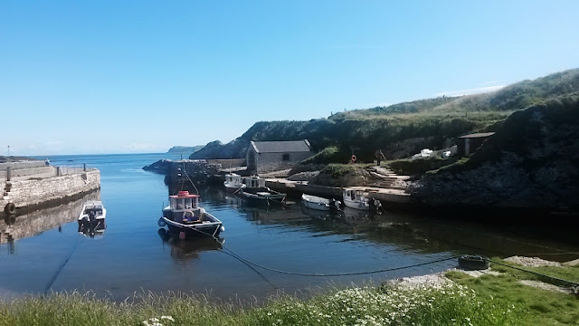 Boats in Ballintoy Harbour